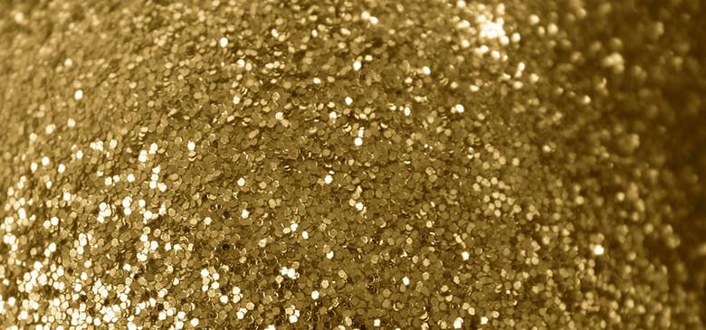 金色大颗粒葱粉质感背景