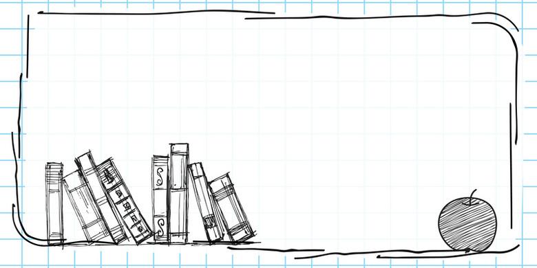 矢量卡通手绘黑板样式边框背景