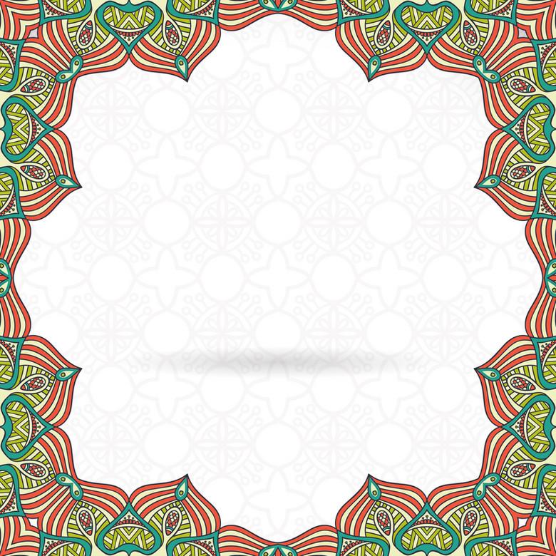 花纹边框素材背景