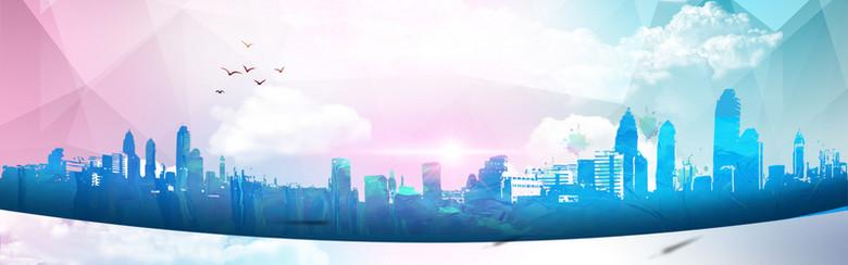 都市剪影背景