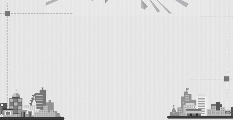 扁平城市建筑背景模板