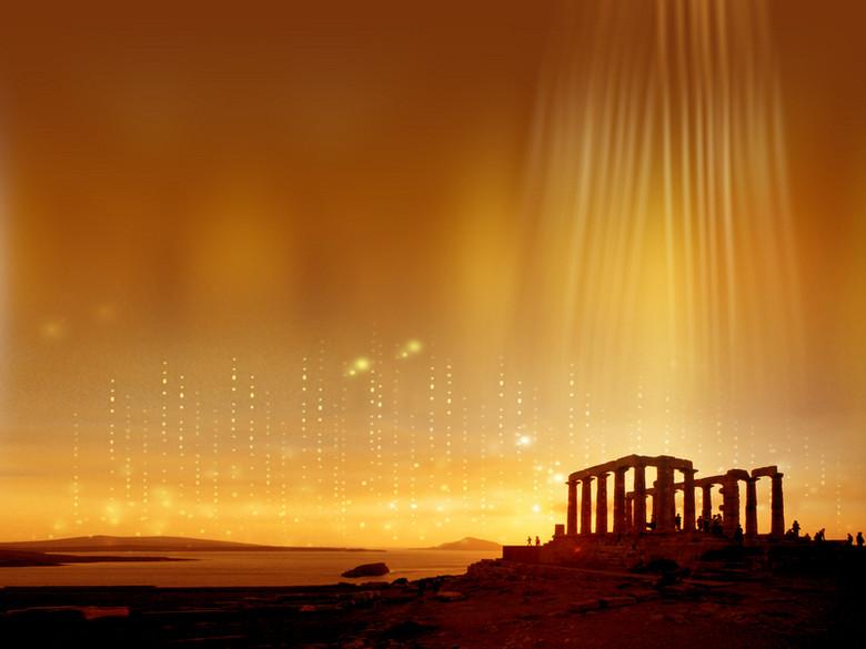 希腊神庙背景元素