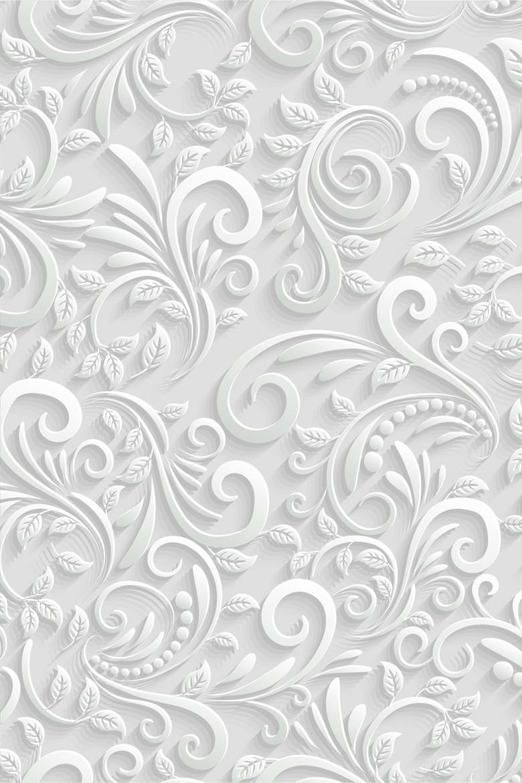 3D时尚花纹背景