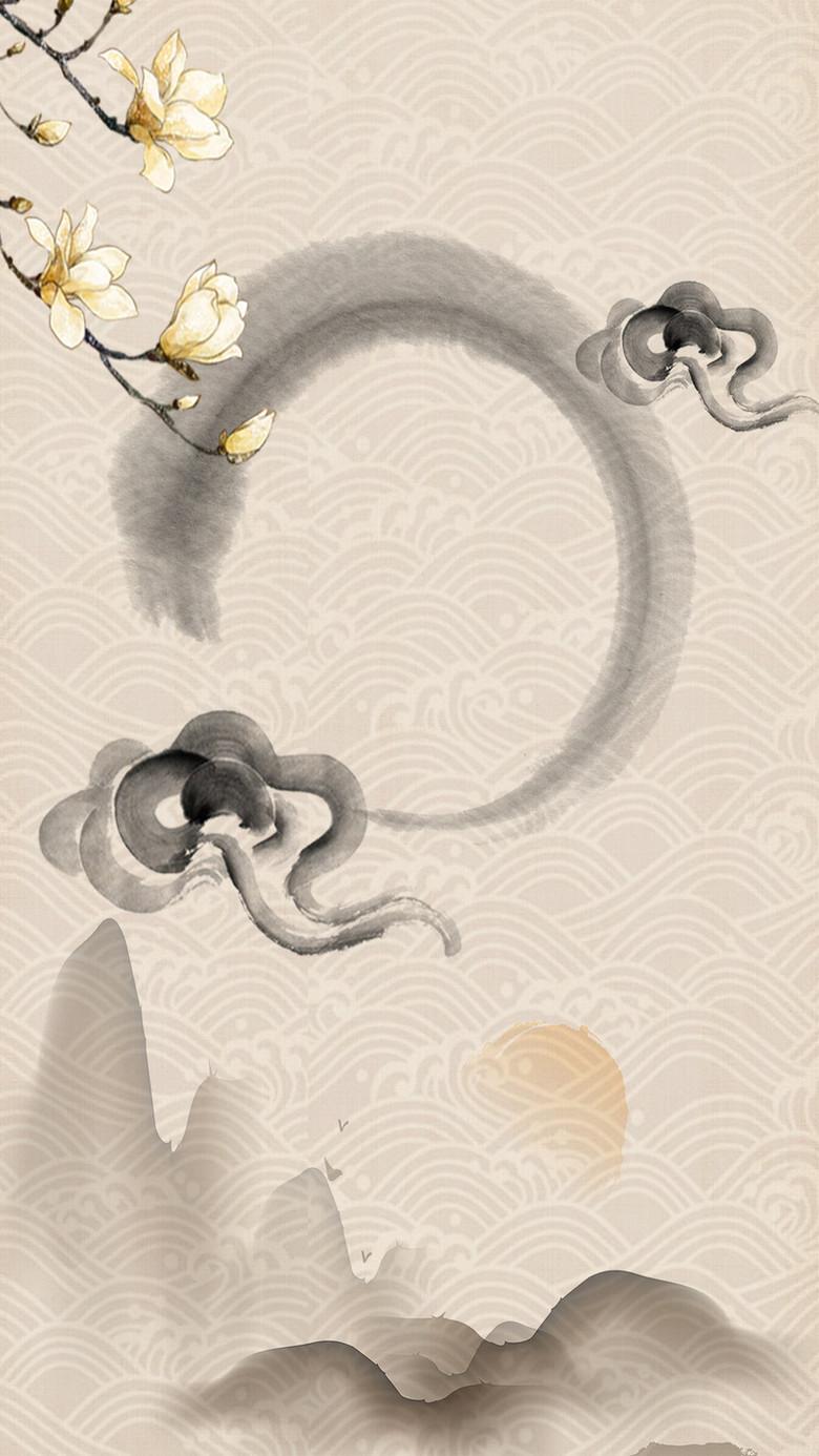 禅文化佛文化背景设计图