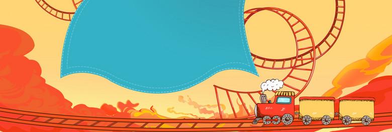 61儿童节卡通童趣banner