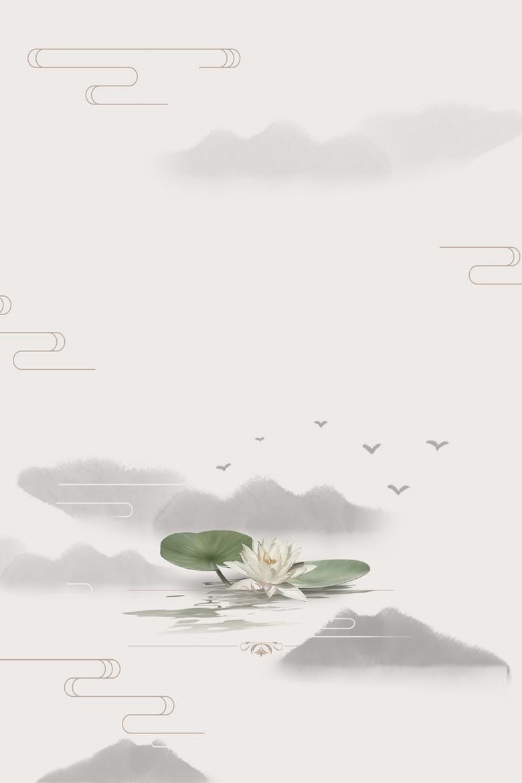中式风格复古海报背景