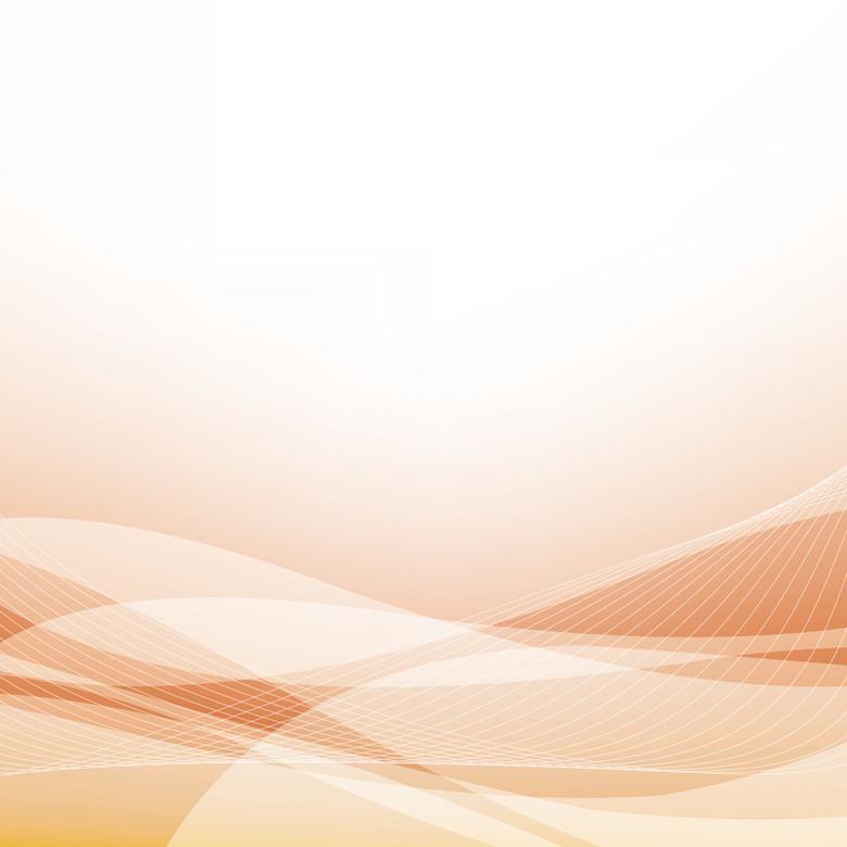 黄色淡粉色抽象曲线商务背景素材