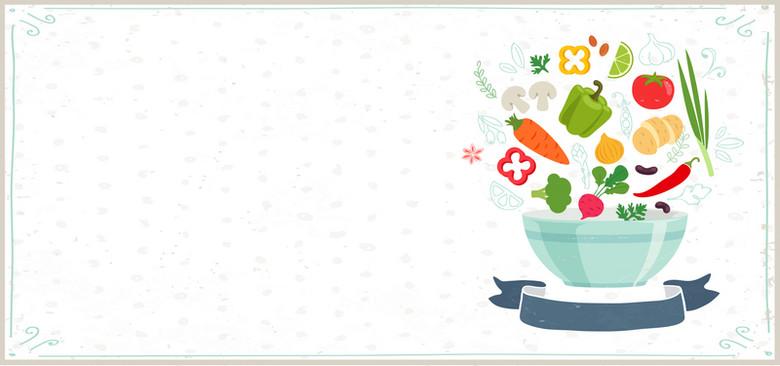 水果蔬菜减肥简餐小清新几何背景