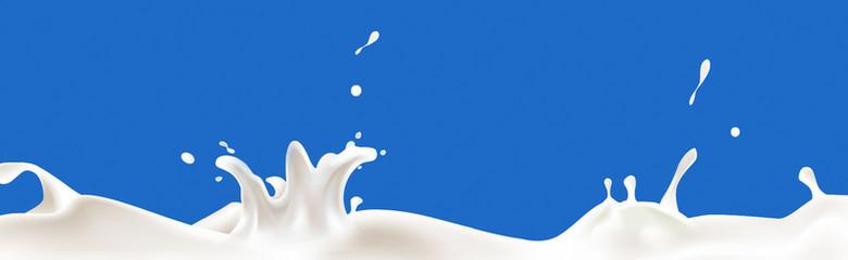 飞溅牛奶系列背景banner