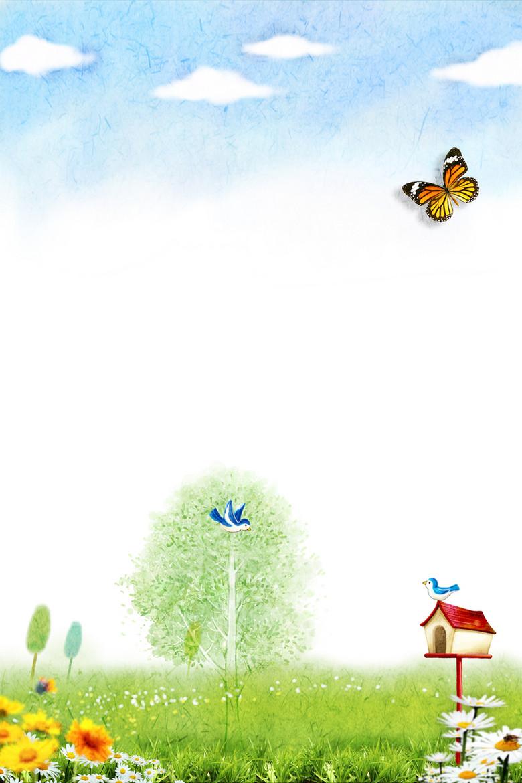 春天海报背景素材
