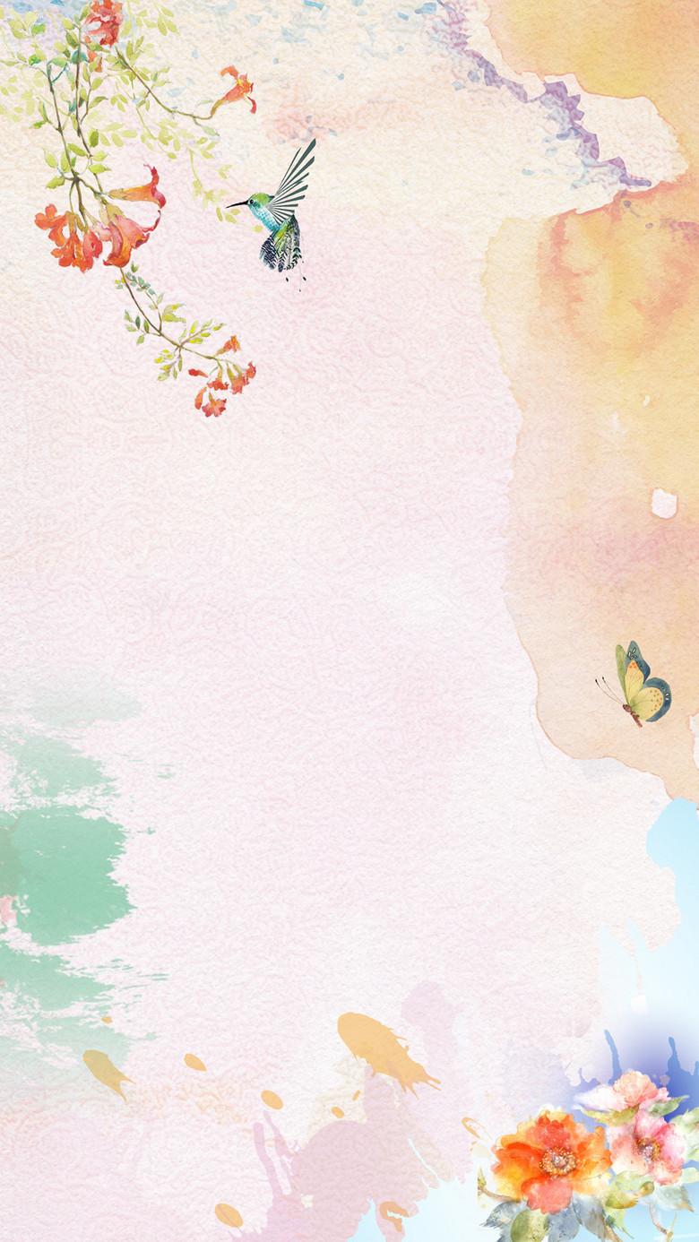 小清新母亲节活动H5背景素材