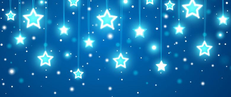 唯美星光天空背景