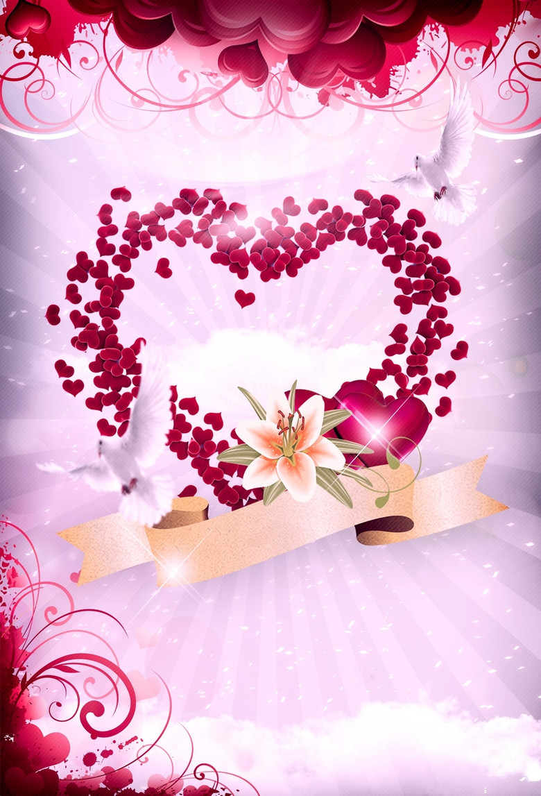 温馨花朵妇女节母亲节背景