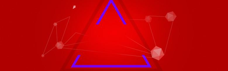 新年几何红色海报背景