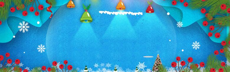 简约清新圣诞节banner海报背景