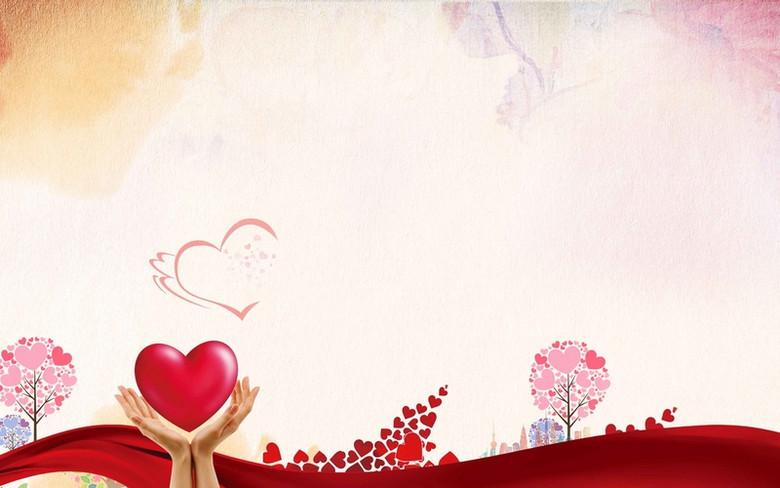爱心传递公益海报背景模板