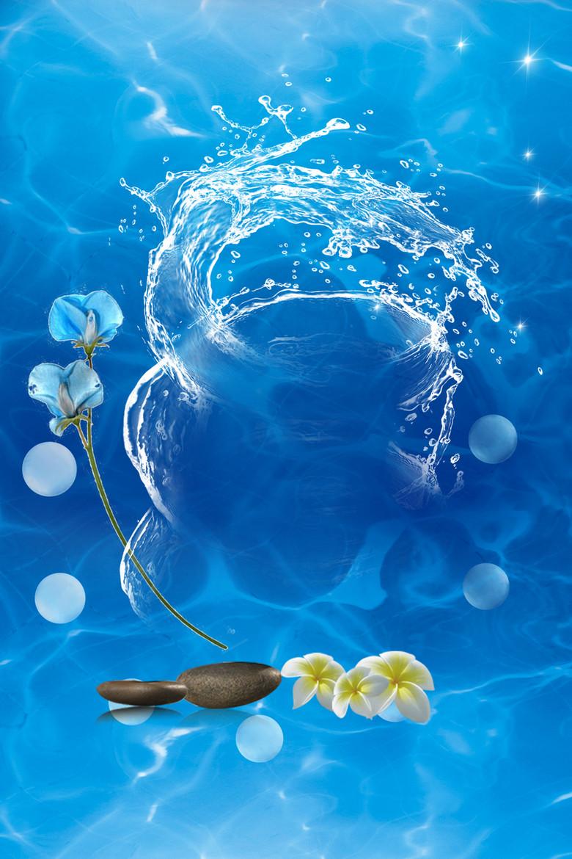 简洁深层补水面膜化妆品海报