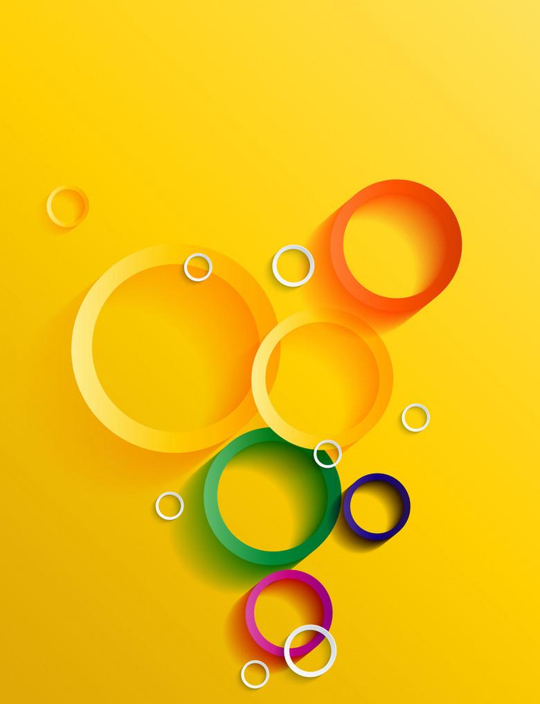 炫彩色彩圆圈渐变几何封面背景