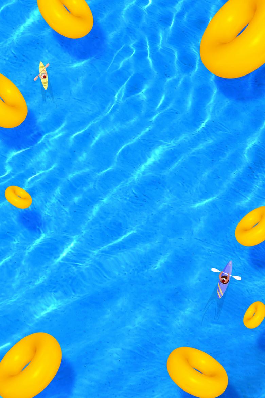 夏季沙滩泳海边旅游休闲海报