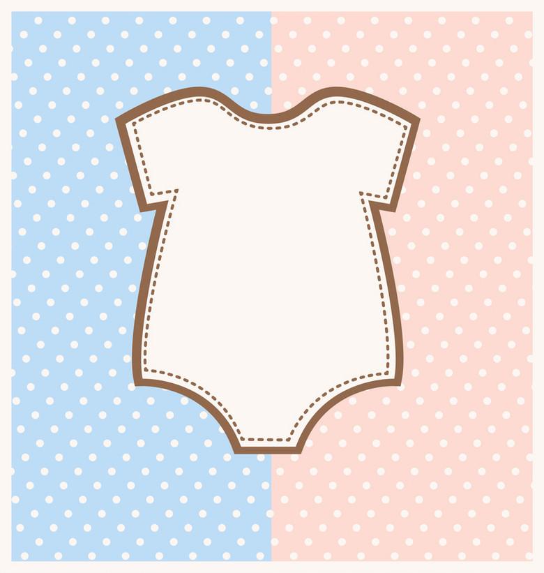 卡通童趣婴儿衣服矢量背景