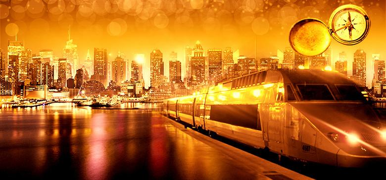金色财富现代都市背景