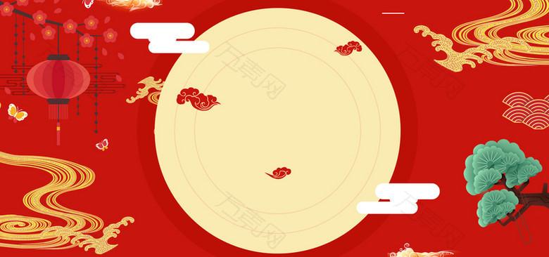 传统中秋佳节中国风背景