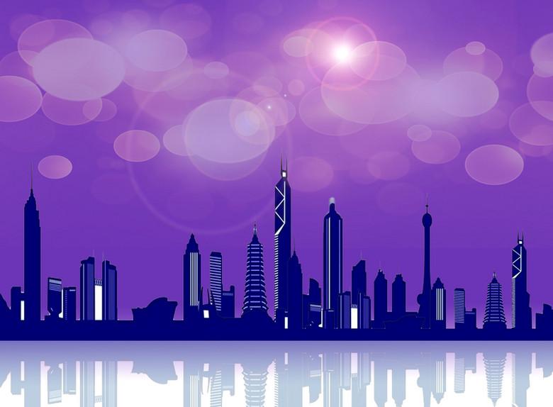 梦幻紫色灯光背景素材