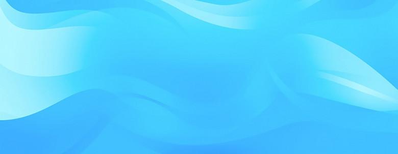 蓝色几何图案动感banner