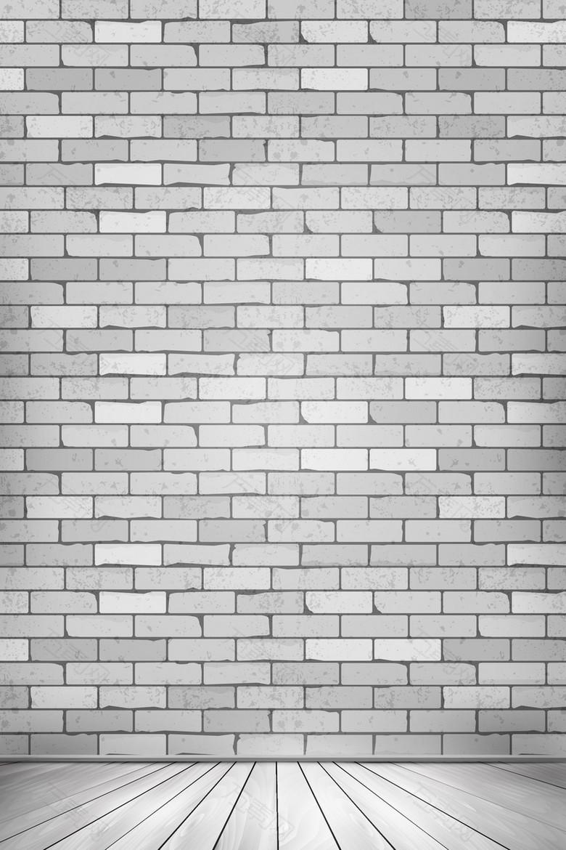 矢量立体空间墙壁地板背景