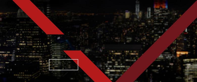 都市夜景几何线条摄影海报banner