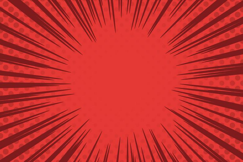 漫画风格放射红黑背景素材