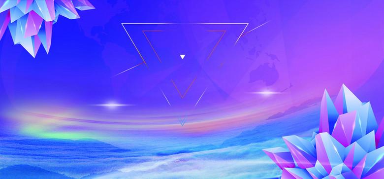 炫彩水晶海报设计素材
