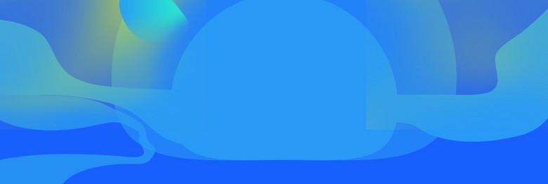 蓝色几何渐变波纹banner背景图