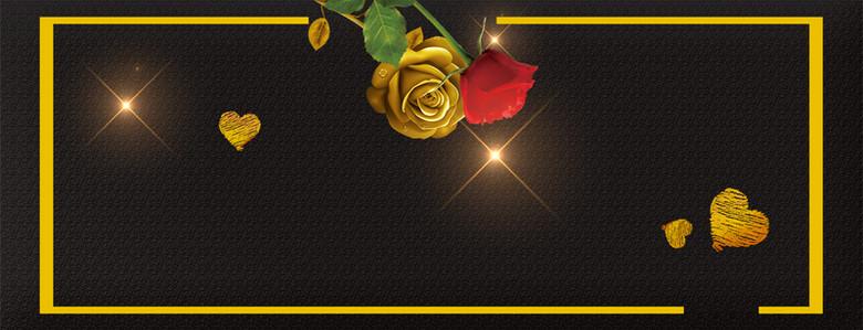 奢华金色玫瑰几何奢华黑色背景