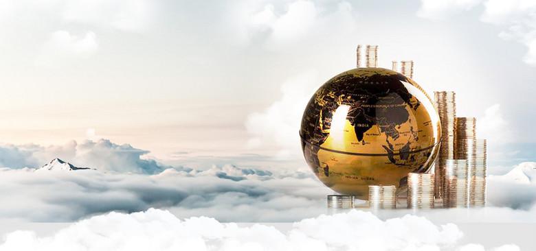 金融企业文化天空背景