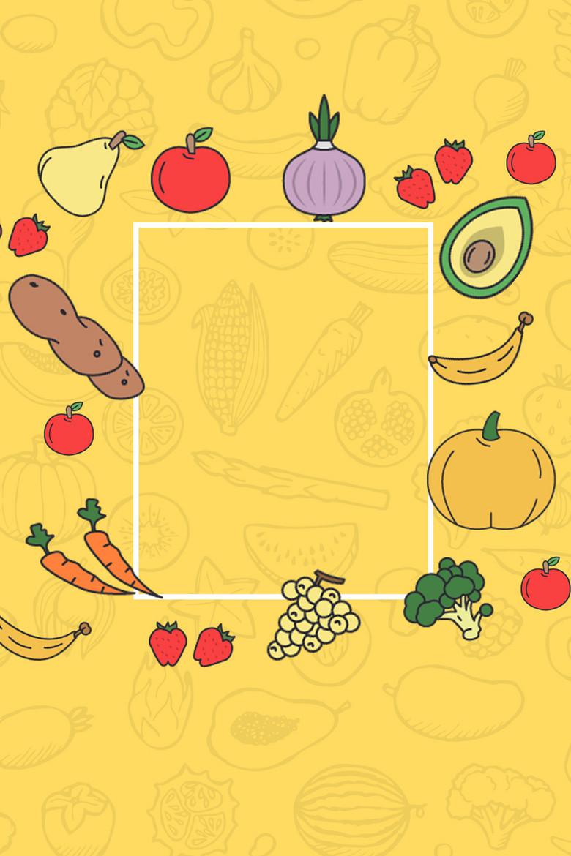 清新水果蔬菜海报背景素材