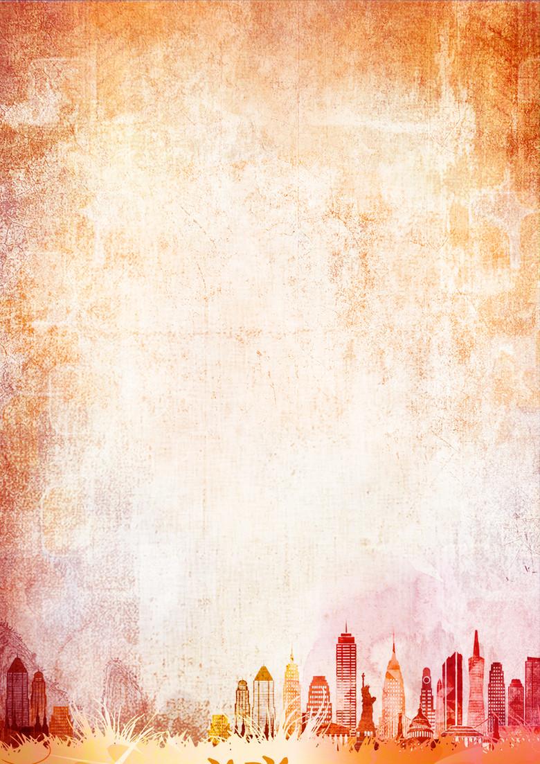 复古都市底纹背景素材