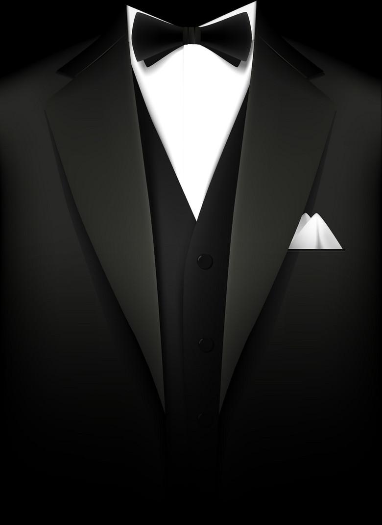 男士西装正装质感黑色背景