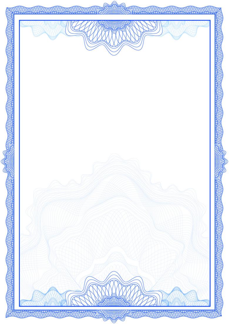 欧式花纹证书文件背景素材