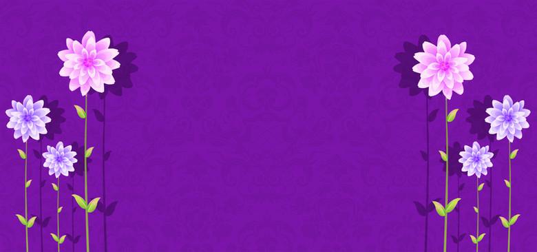 紫色婚礼背景