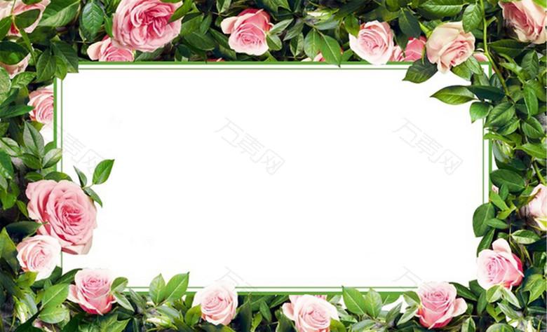 鲜花花环广告背景图