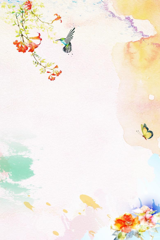 花鸟主题背景背景模板