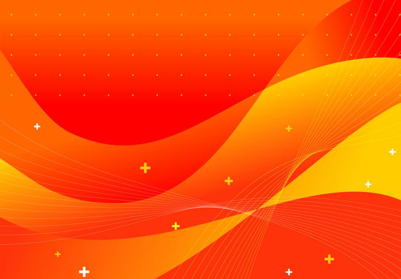 彩色潮流橙色抽象动感背景矢量素材