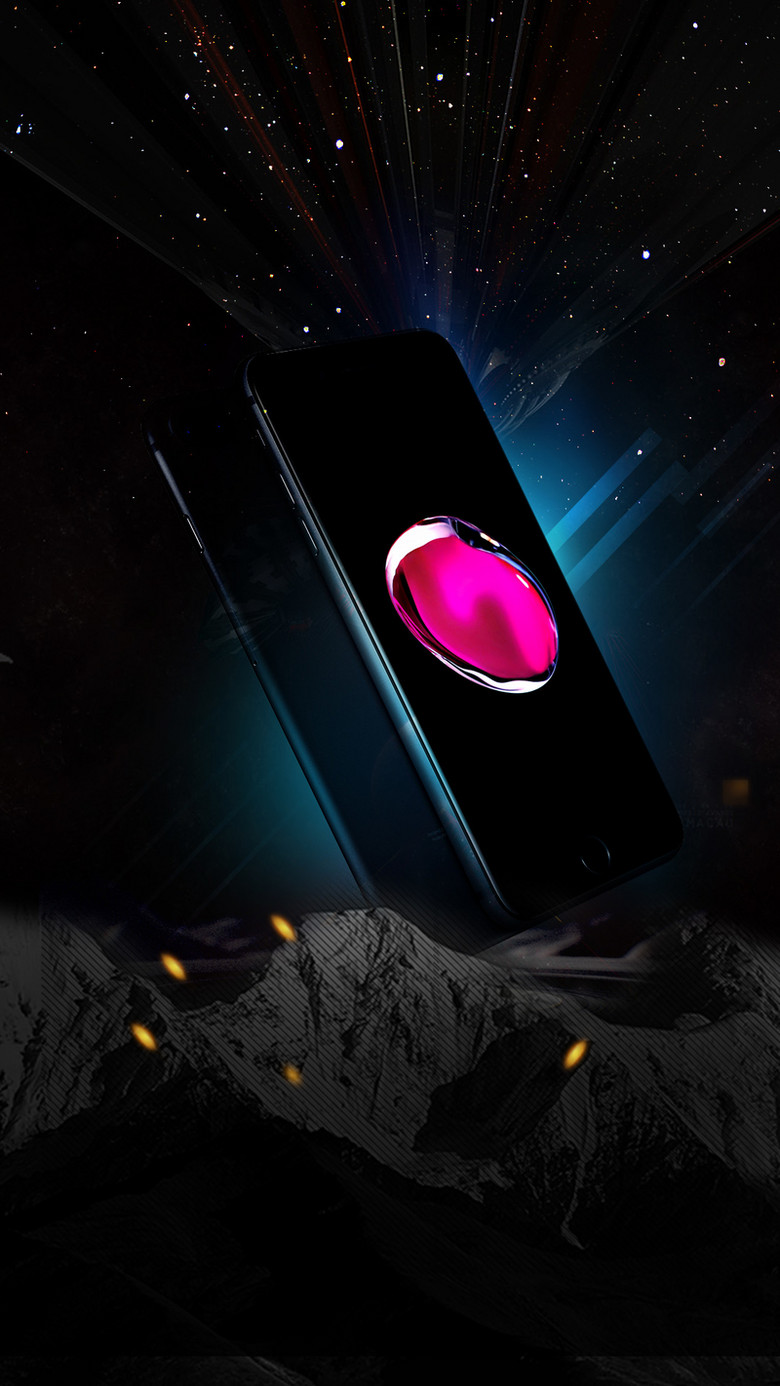科技感苹果8手机预售PSD分层H5