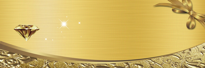 欧式大气奢华金色代金券海报背景素材