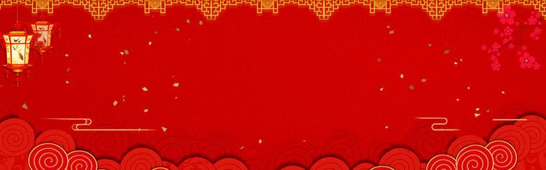 红色背景喜庆风格全屏海报psd
