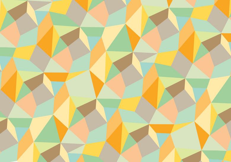 多彩复古多面体几何背景素材