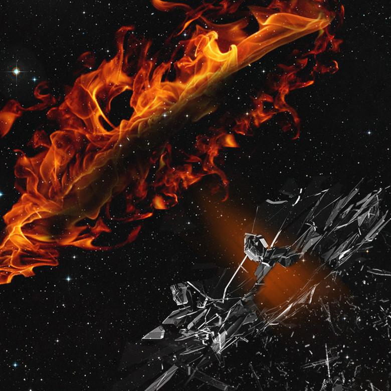 黑色火焰运动服饰PSD分层主图背景素材