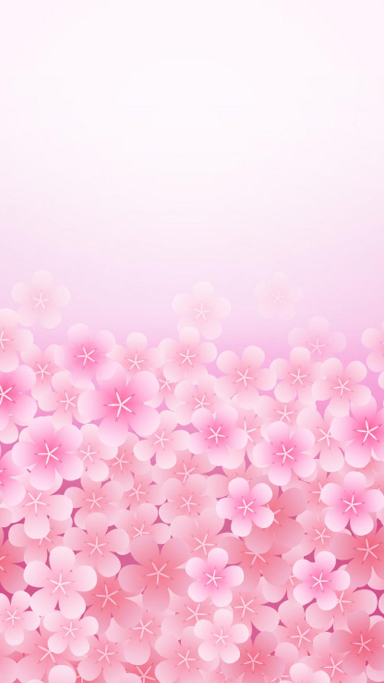 粉色花朵矢量图源文件H5背景