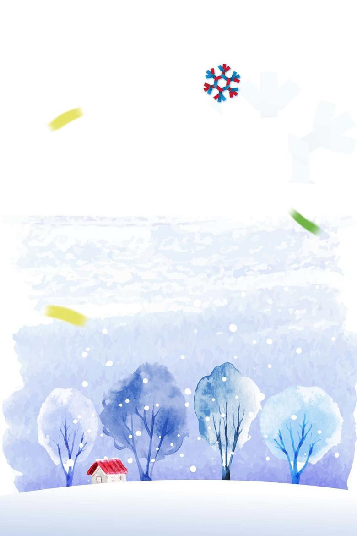 冬季新品海报背景素材